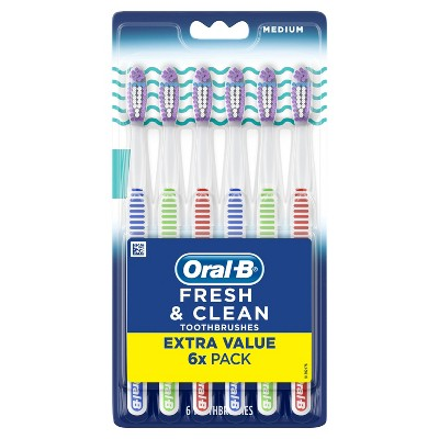 Oral-B Fresh & Clean Toothbrushes - Medium - 6ct