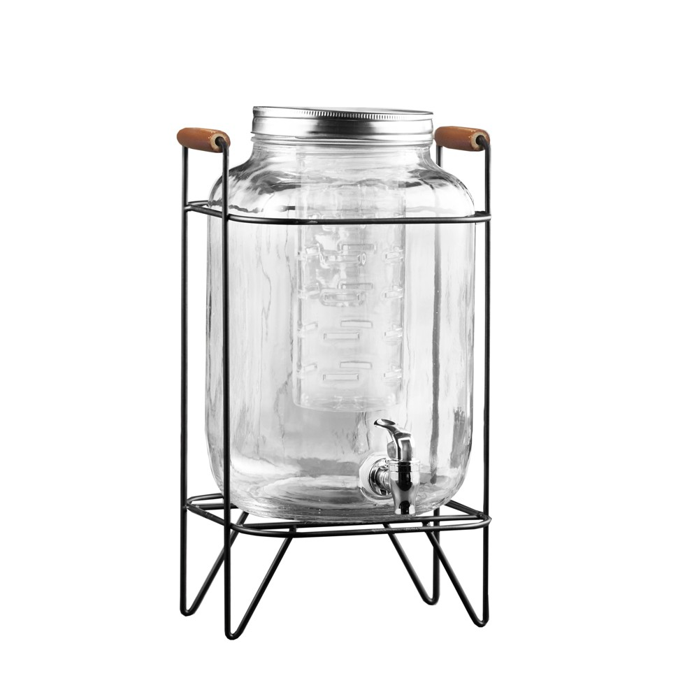 2.1gal Beck Glass Beverage Dispenser With Infuser - American Atelier, Clear