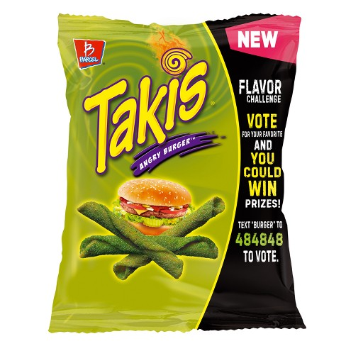barcel takis angry burger tortilla chips 4oz target