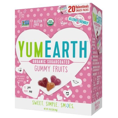 YumEarth Organic Valentine Sugar Coated Heart Gummies Box - 10oz/20ct - image 1 of 1