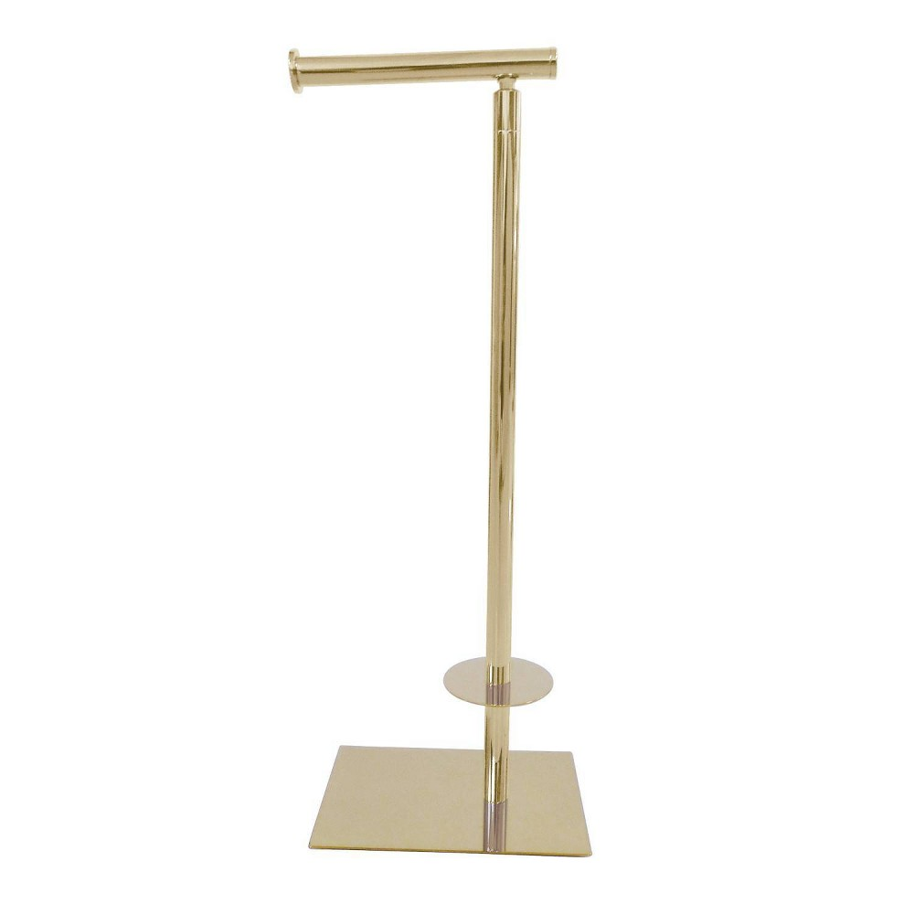 Image of Claremont Freestanding Toilet Paper Stand Polished Brass - Kingston Brass