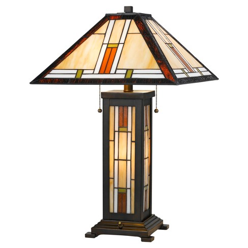 Tiffany Table Lamp With 7w Night Light 60w X 2 Black Includes