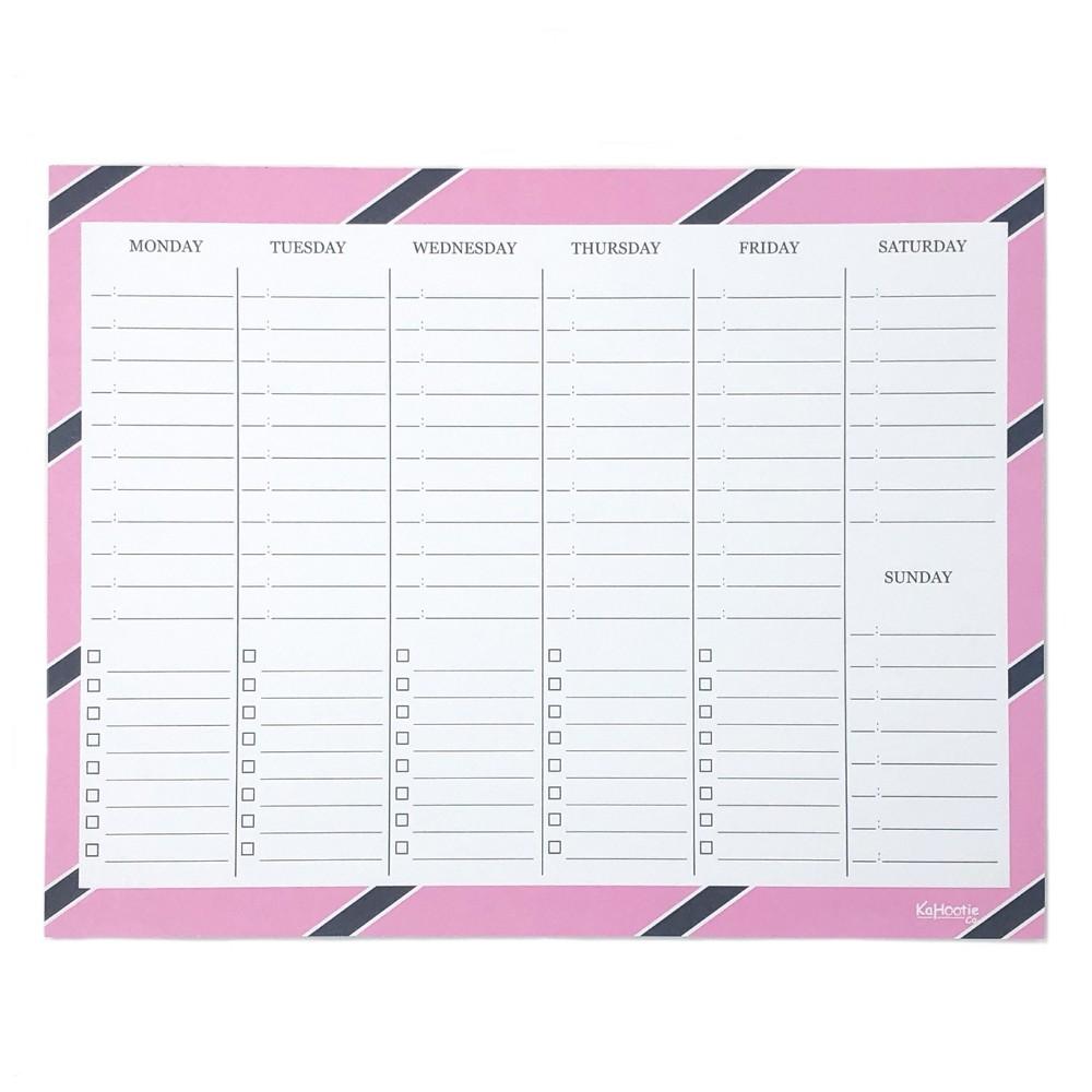 Weekly Schedule Notepad 8.5
