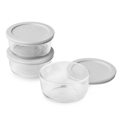 Pyrex 2cup 6pc Round Food Storage Container Set by Pyrex
