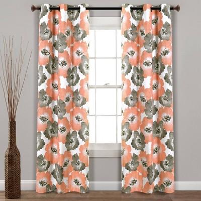 Julie Floral Insulated Grommet Blackout Window Curtain Panels - Lush Décor