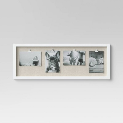 Horizontal Clip Multiple Images Photo Frame White - Threshold™