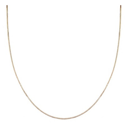 """Women's Box Chain Necklace in Rose Gold over Sterling Silver - Rose (20"""")"""