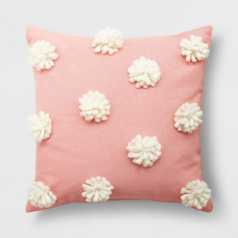 Holiday Pom-Pom Square Throw Pillow - Opalhouse™ - image 1 of 4