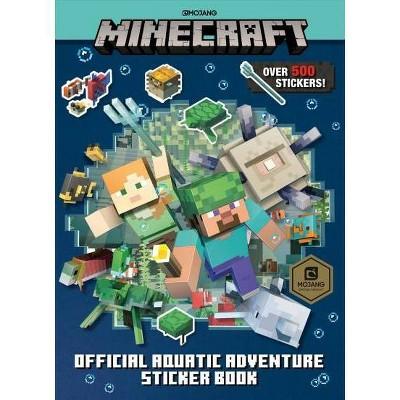 Minecraft Official Aquatic Adventure Sticker Book -  by Stephanie Milton (Paperback)