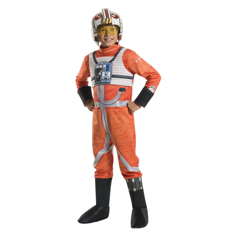 Kids' Star Wars X-Wing Starfighter Pilot Halloween Costume M, Boy's, Multicolored