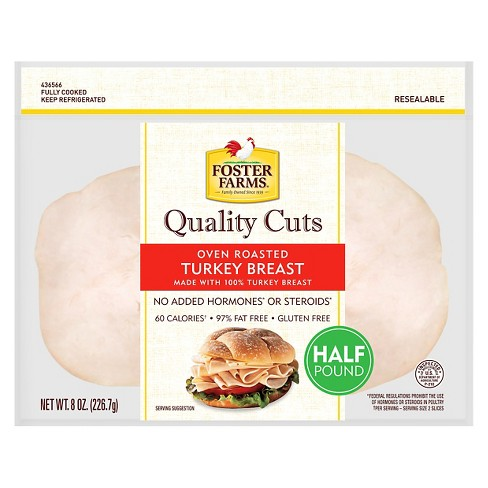 Foster Farms Oven Roasted Turkey Breast - 8oz - image 1 of 1