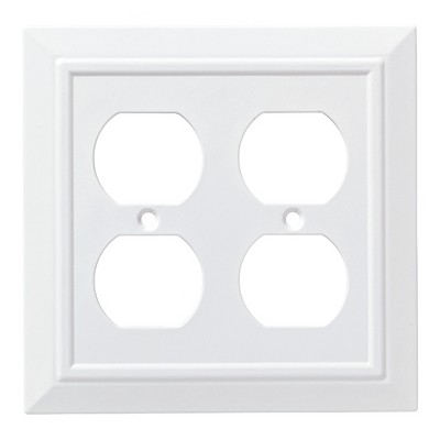 Franklin Brass Classic Architecture Double Duplex Wall Plate White