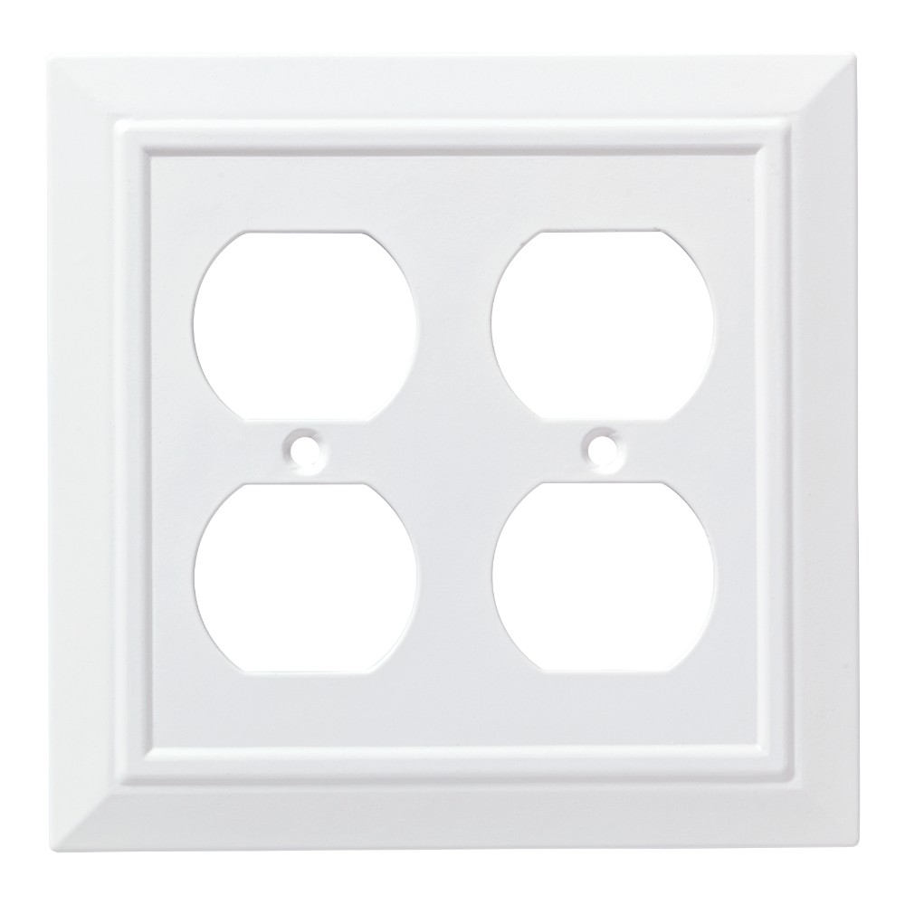 Franklin Brass Classic Architecture Double Duplex Wall Plate White Cheap