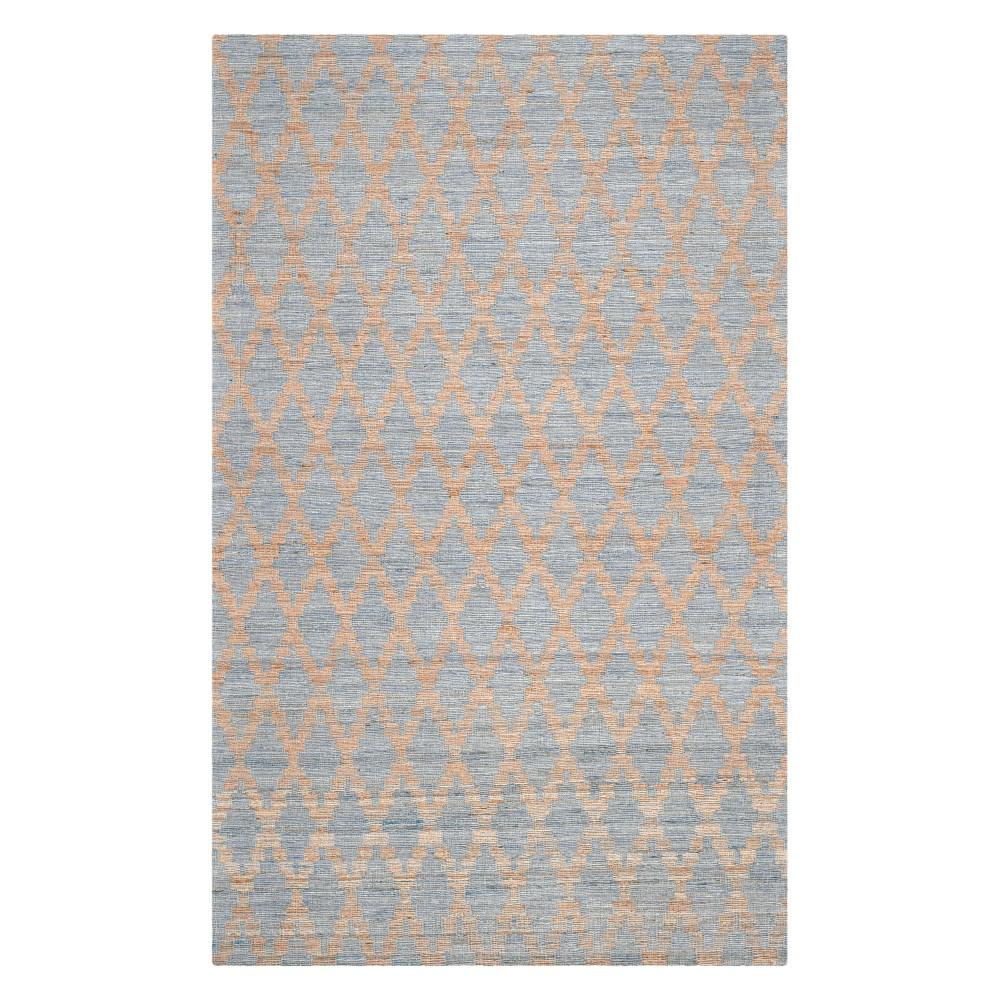 4'X6' Tribal Design Woven Area Rug Light Blue/Gold - Safavieh