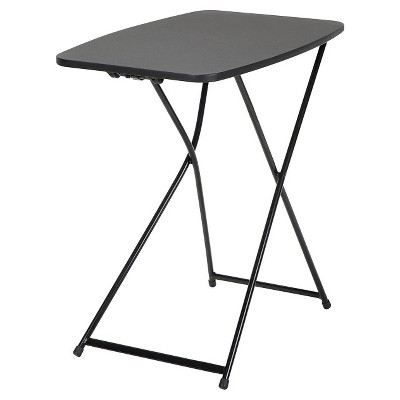 Indoor Outdoor Adjustable Height Folding Table (2pk)- 18  x 26 - Black - Cosco