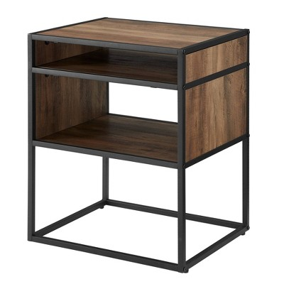 Industrial Modern Side Table Reclaimed Barnwood - Saracina Home