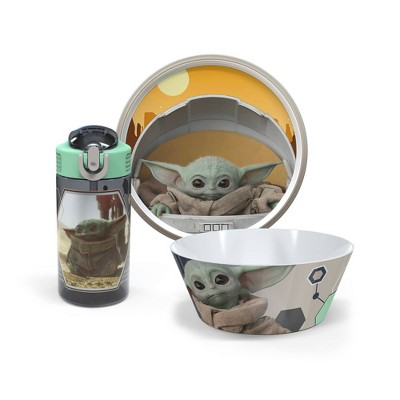 Star Wars: The Mandalorian 3pc Melamine Dishware Set - Zak Designs