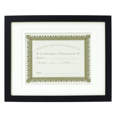 Back-Bevel Document Frame 11x14 Matted to 8.5 x11  - Room Essentials™