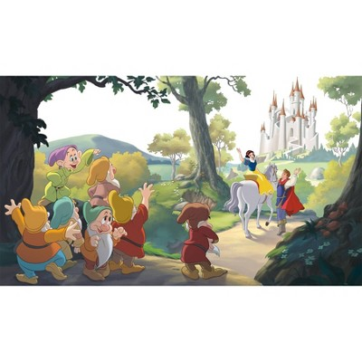 6'x10.5' XL Disney Princess Snow White 'Happily Ever After' Chair Rail Prepasted Mural Ultra Strippable - RoomMates