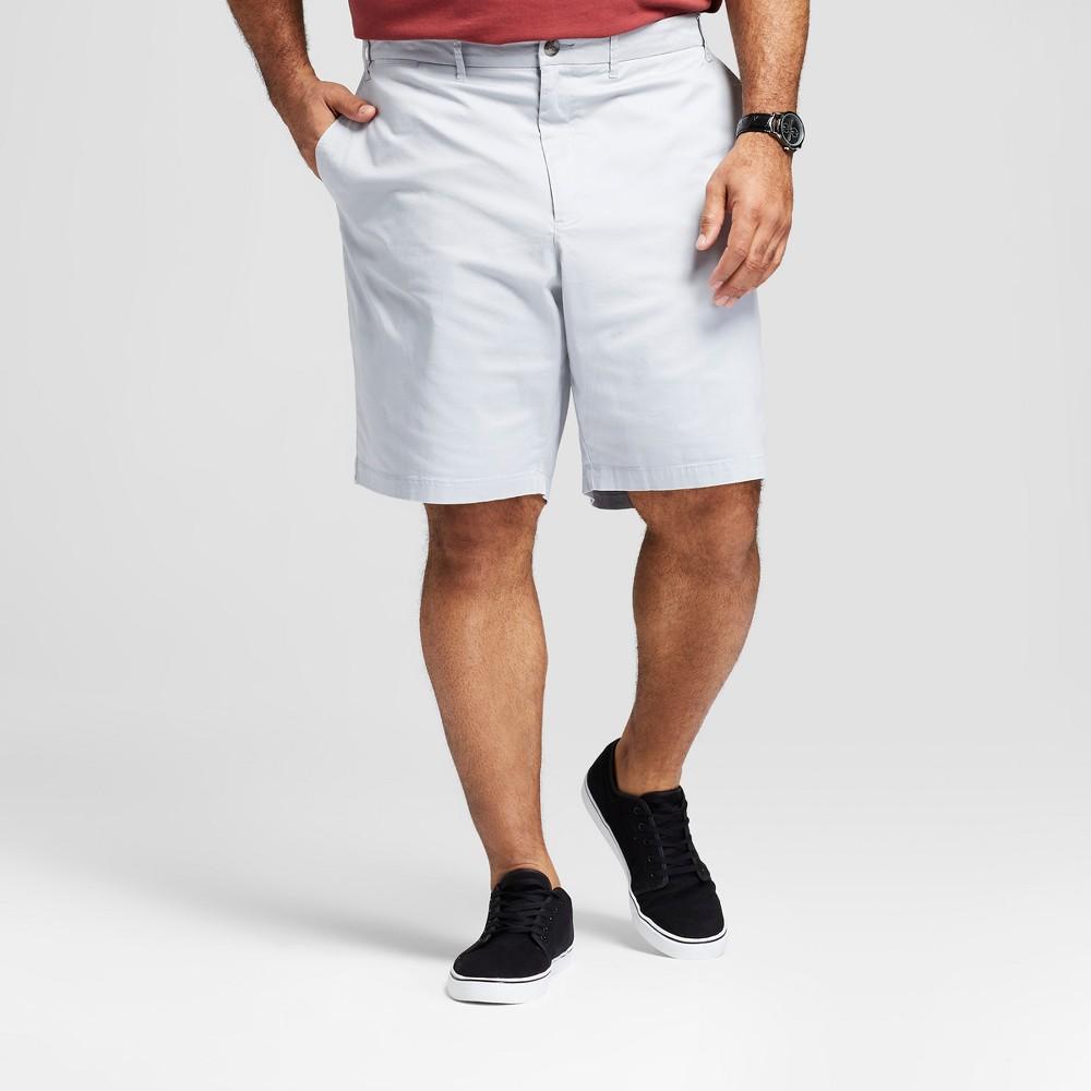 Men's Big & Tall 10.5 Linden Flat Front Shorts - Goodfellow & Co Masonry Gray 58