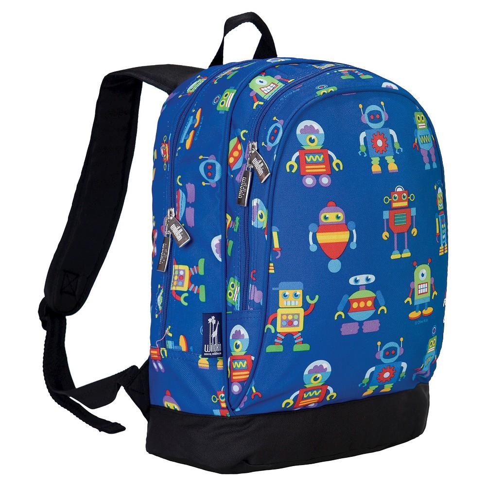 Wildkin Olive Robots Sidekick Kids' Backpack - Blue Robots