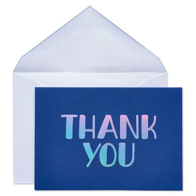 24ct Thank You Cards with Envelopes Navy - Spritz™
