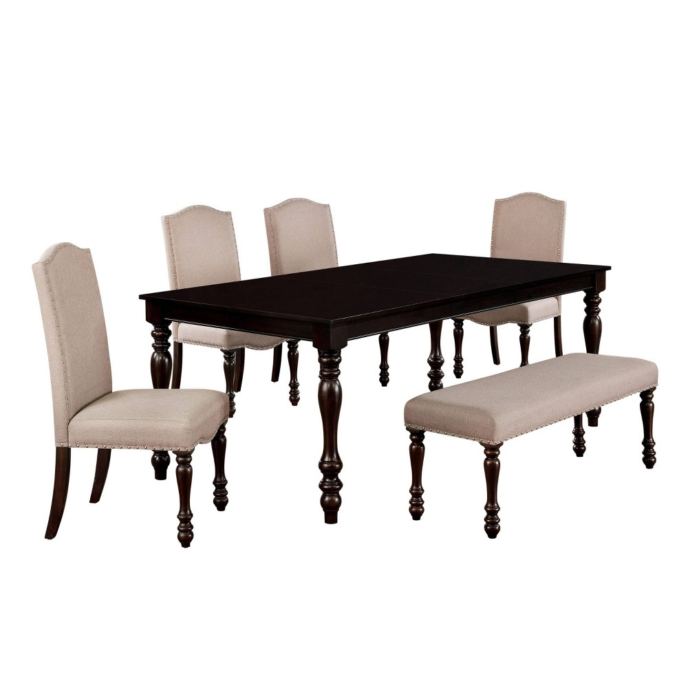 Cheap 6pc Stafford Dining Set Dark Brown - HOMES: Inside + Out