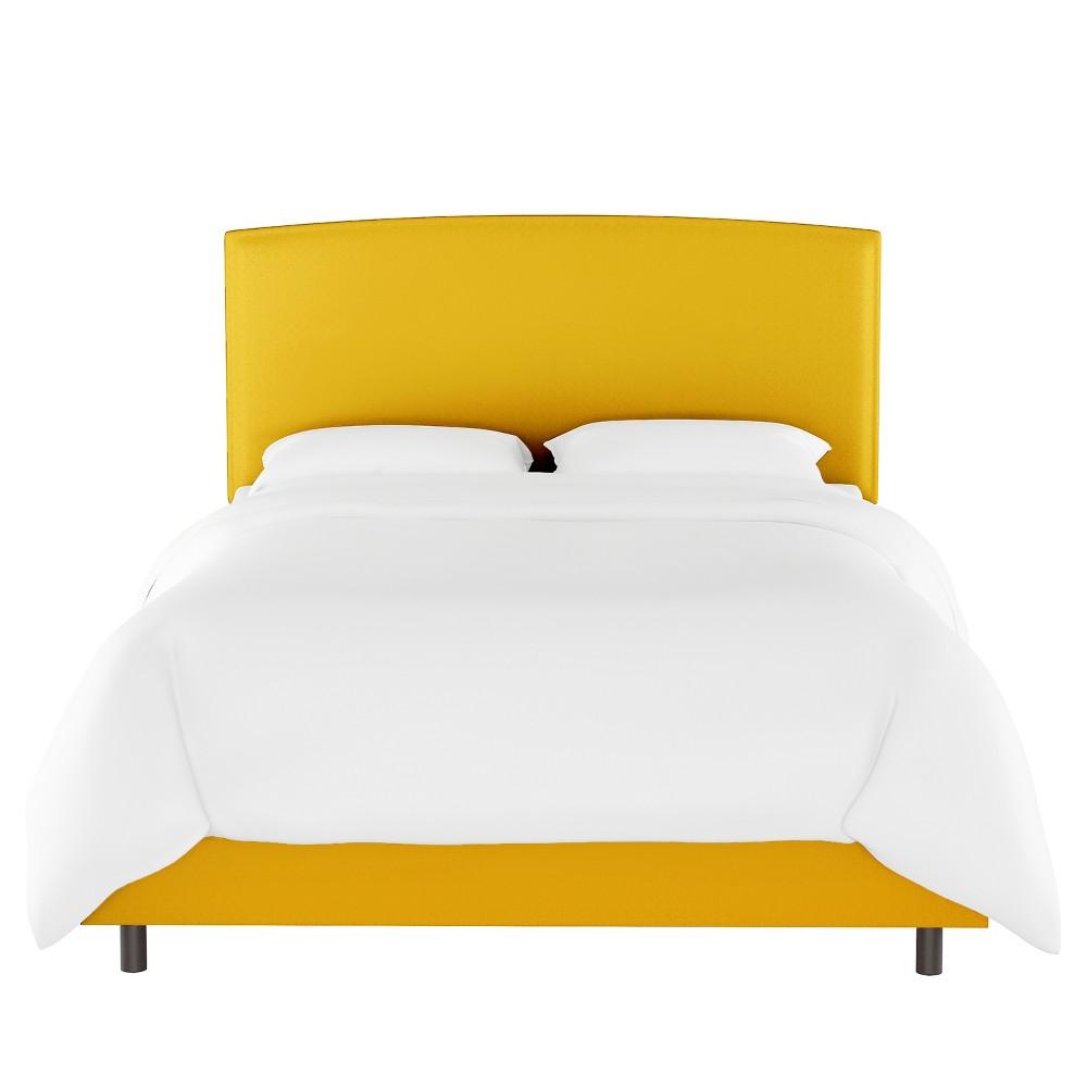 Queen Upholstered Bed Yellow Velvet Opalhouse 8482