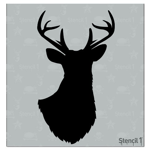 "Stencil1® Antlered Deer Silhouette - Stencil 5.75"" x 6"" - image 1 of 3"
