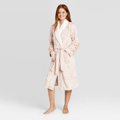 Women's Cozy Faux Fur Robe - Stars Above™ Pink M/L