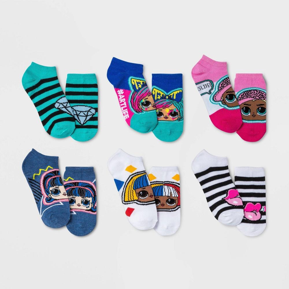 Girls 39 L O L Surprise 6pk Socks S M