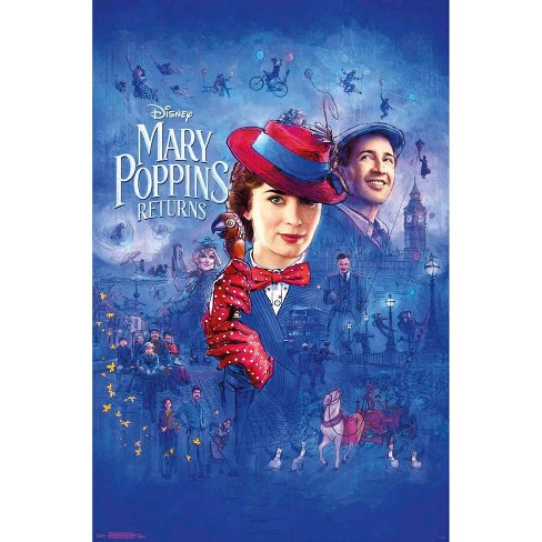 """34""""x23"""" Mary Poppins Returns Sketch Unframed Wall Poster Print - Trends International - image 1 of 2"""