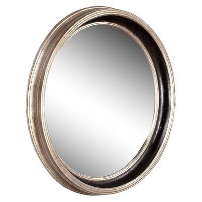 Round Howard Elliot Cole Decorative Wall Mirror Light Silver/Black - Howard Elliott
