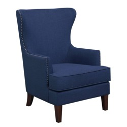 Superb Jackson Wingback Chair Velvet Navy Threshold Target Caraccident5 Cool Chair Designs And Ideas Caraccident5Info
