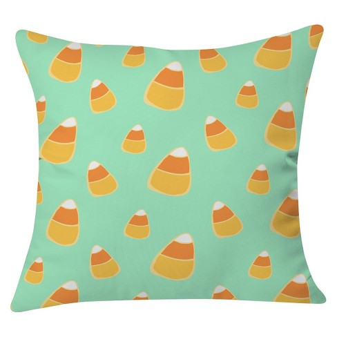"Blue Allyson Johnson Candy Corn Blue Throw Pillow Mint (20""x20"") - Deny Designs® - image 1 of 3"