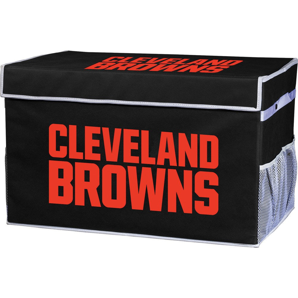 NFL Franklin Sports Cleveland Browns Collapsible Storage Footlocker Bins - Large, Multicolored