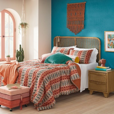 Santa Rosa Bed in a Bag Comforter & Sheets Set Terracotta Ikat Print - Opalhouse™ designed with Jungalow™