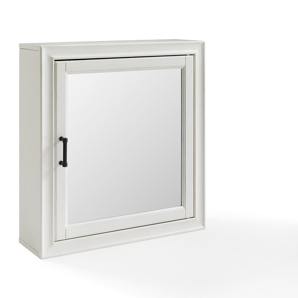 Tara Bath Mirror Decorative Wall Cabinet White - Crosley