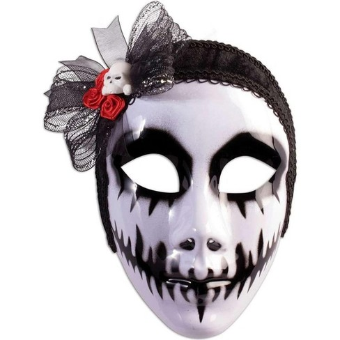 Forum Novelties Day Of The Dead Phantom Bride Costume Mask - image 1 of 1