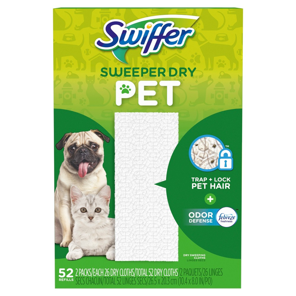 Swiffer Sweeper Dry Refill Pet - 52ct, Green