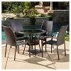 Lisbon 5pc Wicker Patio Dining Set - Brown - Christopher Knight Home - image 4 of 4