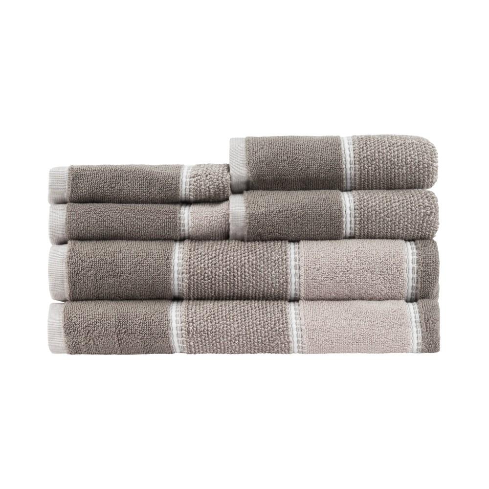 Image of 6pc Ethon Bath Towel Set Gray - Caro Home