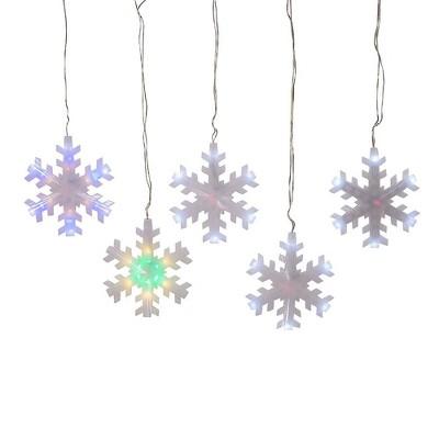 Kurt Adler 155-Light Color Changing LED Snowflake Icicle Set