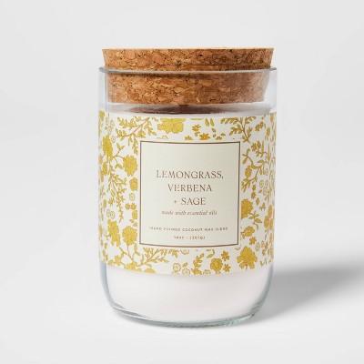 14oz Lemongrass Verbena and Sage Candle - Threshold™