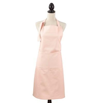 Denim Classic Cuisine Cotton Cooking Apron 35 x28  Light Pink - Saro Lifestyle