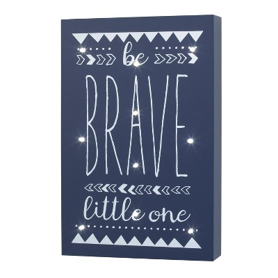 """NoJo Little Love """"Be Brave Little One"""" Lighted Wall Decor"""