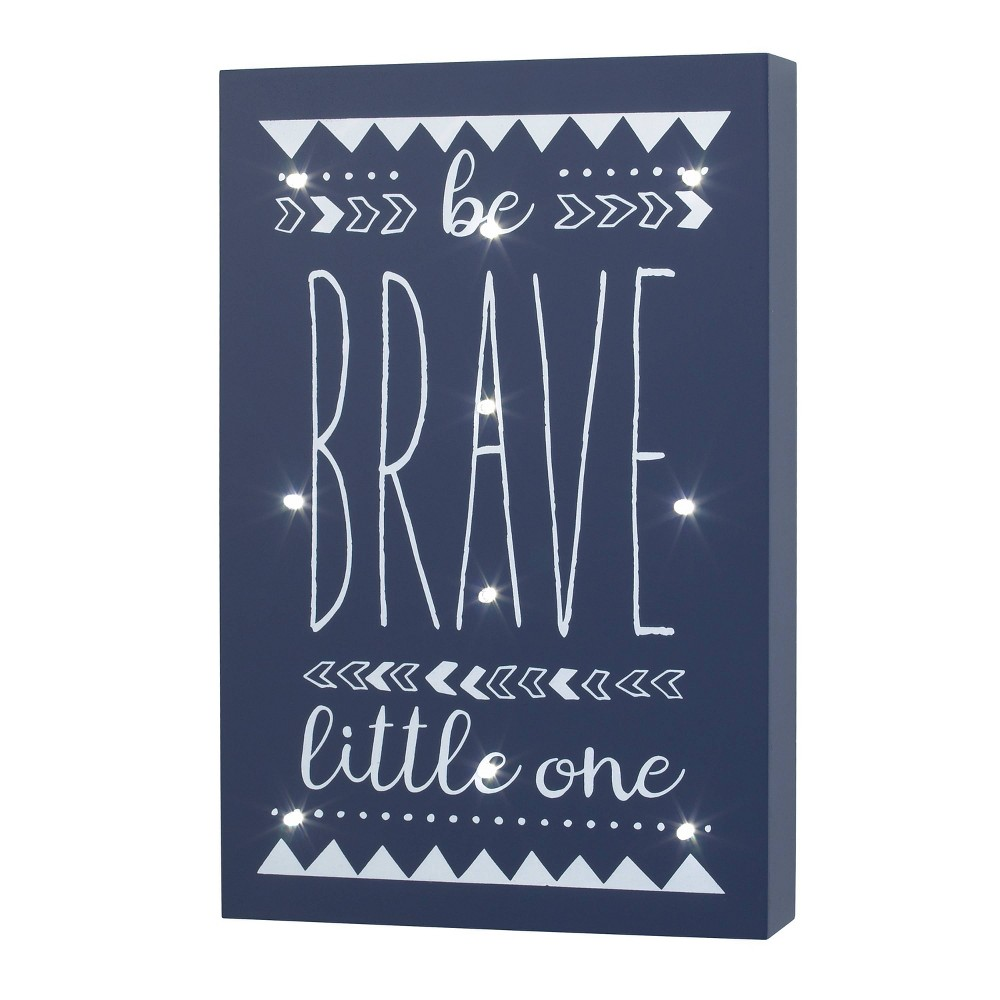 """Image of """"NoJo Little Love """"""""Be Brave Little One"""""""" Lighted Wall Decor"""""""