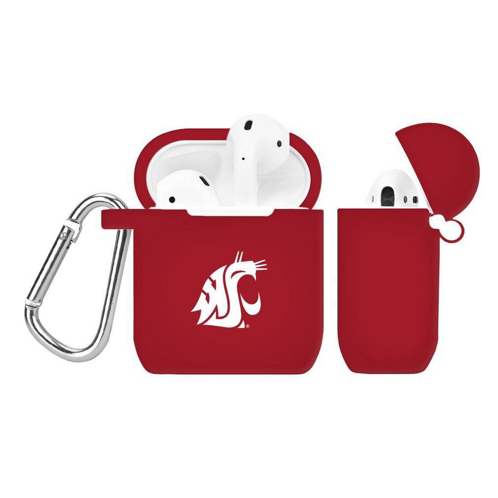 NCAA Washington State Cougars Silicone Cover for Apple AirPod Battery Case, Multicolored NCAA Washington State Cougars Silicone Cover for Apple AirPod Battery Case Color: Multicolored.