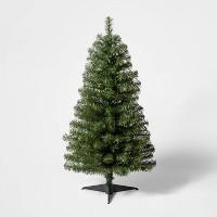 Wondershop 3-ft Pre-Lit Slim Alberta Spruce Christmas Tree