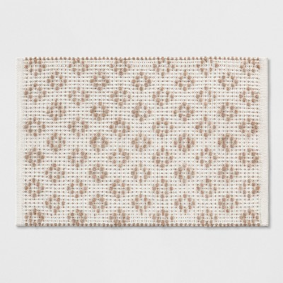 White/Tan Diamond Woven Accent Rug 2'X3' - Opalhouse™